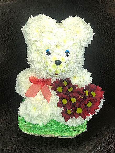 доставка цветов по Москве - Влюбленный Мишка