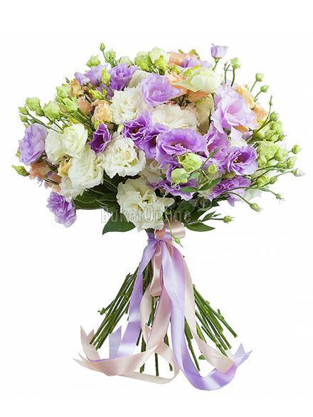 доставка цветов по Москве - Букет из эустомы (лизиантус)