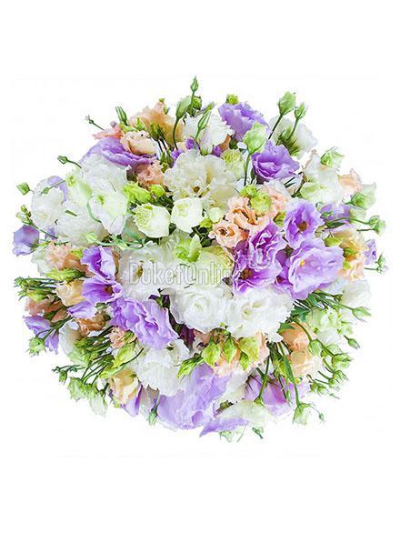 цветы с доставкой - Букет из эустомы (лизиантус)