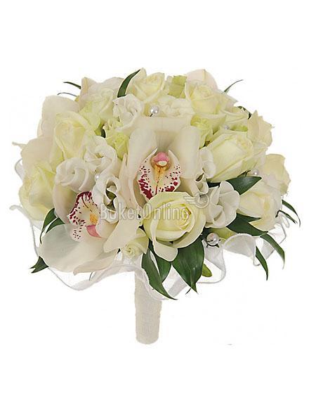 Букет Букет невесты - Артемида / доставка цветов бесплатно по Москве (в пределах МКАД).