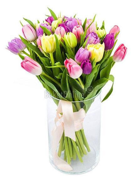 Букет Букет тюльпанов / доставка цветов бесплатно по Москве (в пределах МКАД).