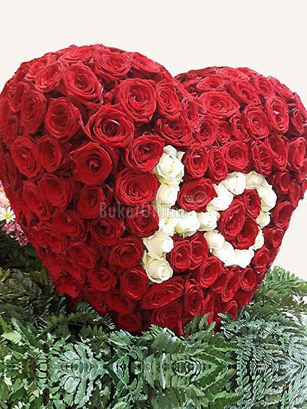 цветы с доставкой - Пылающее сердце