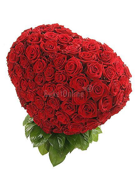 доставка цветов по Москве - Пылающее сердце