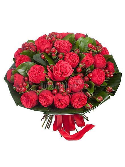 Букет Я люблю / доставка цветов бесплатно по Москве (в пределах МКАД).