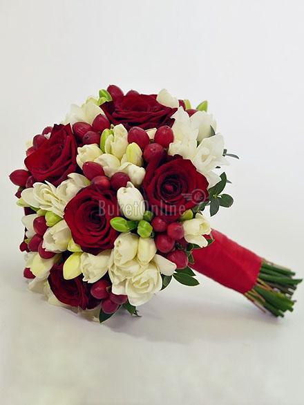 Букет Букет невесты - Герцогиня / доставка цветов бесплатно по Москве (в пределах МКАД).