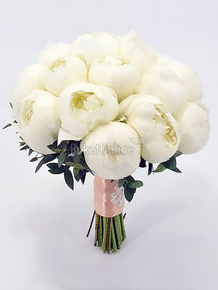Букет Je T'aime - Букет для невесты / доставка цветов бесплатно по Москве (в пределах МКАД).