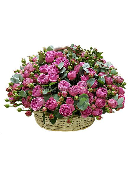 Букет Малиновый жемчуг / доставка цветов бесплатно по Москве (в пределах МКАД).