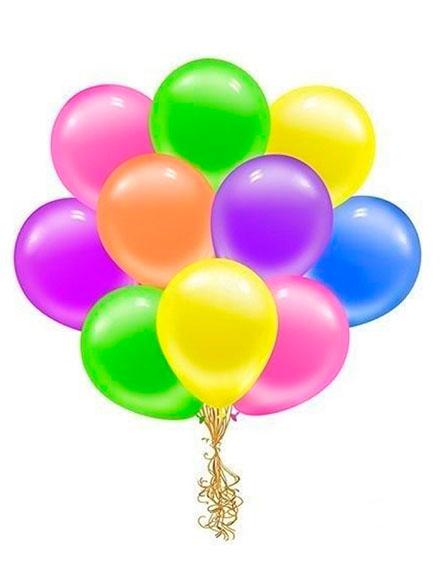 Воздушные шары 10шт. - доставка цветов бесплатно по Москве (в пределах МКАД)