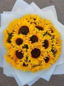 Солнечный букет с подсолнухами