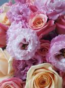 Букет из эустомы и роз