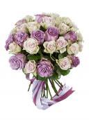 Обольстительный дуэт - букет роз
