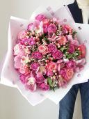 Букет из роз и орхидеи