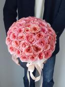 Шляпная коробка с пионовидной розой Лондон Ай