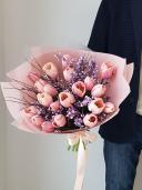 Пионовидный тюльпан и гениста