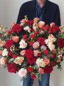 Корзина цветов ''Red''