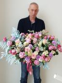Шикарная корзина с розой